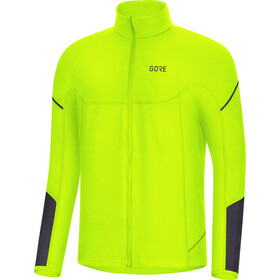 GORE WEAR M Thermo Langarm Zip Shirt Herren neon yellow/black